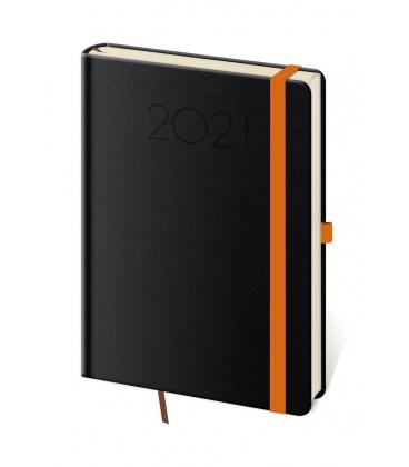 Daily Diary A5 New Praga black, orange 2021