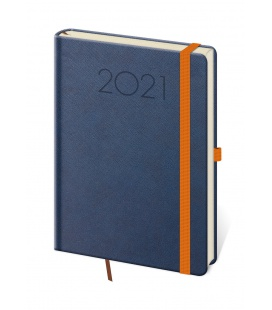 Daily Diary A5 New Praga blue, orange 2021