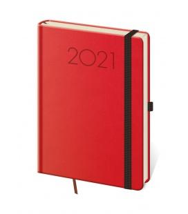 Daily Diary A5 New Praga red, black 2021