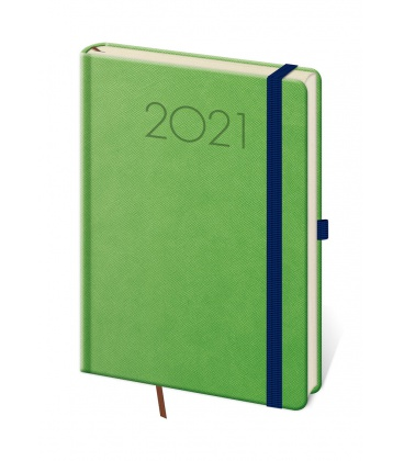 Weekly Diary A5 New Praga green, blue 2021