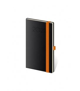 Weekly Pocket Diary New Praga black, orange 2021