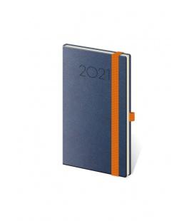 Weekly Pocket Diary New Praga blue, orange 2021