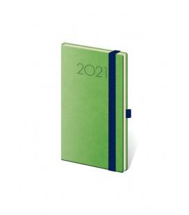 Weekly Pocket Diary New Praga green, blue 2021