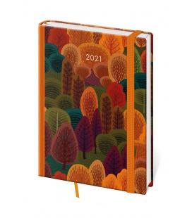 Daily Diary A5 Vario - Trees s gumičkou 2021