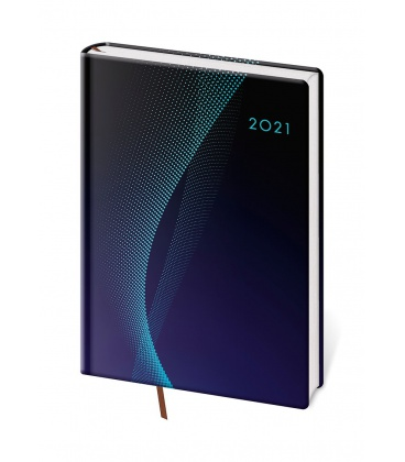 Daily Diary A5 Vario - Blue design 2021