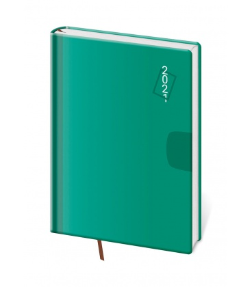 Daily Diary A5 Vario - Green 2021