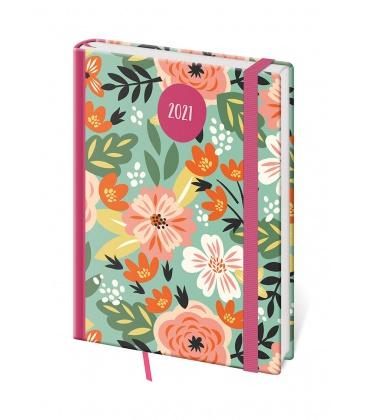 Weekly Diary A5 Vario - Flowers s gumičkou 2021