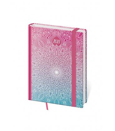 Weekly Diary B6 Vario - Mandala s gumičkou 2021