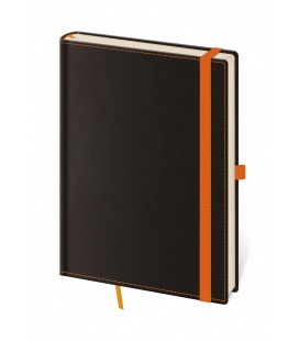 Notepad - Zápisník Black Orange - lined L black, orange 2021