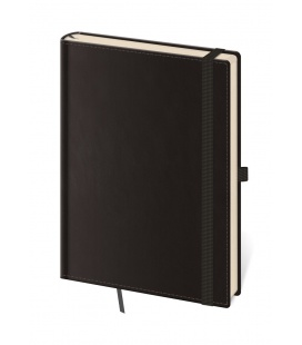 Notepad - Zápisník Double Black - lined L black 2021