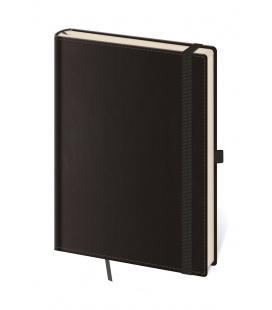 Notepad - Zápisník Double Black - lined M black 2021
