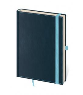 Notepad - Zápisník Double Blue - dotted M blue 2021