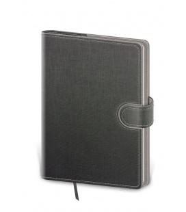 Notepad - Zápisník Flip A5 lined grey, grey 2021