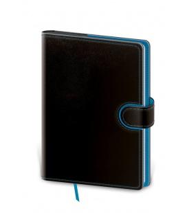 Notepad - Zápisník Flip B6 lined black, blue 2021