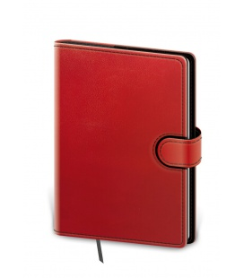 Notepad - Zápisník Flip B6 lined red, black 2021