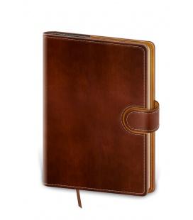 Notepad - Zápisník Flip B6 lined brown, brown 2021