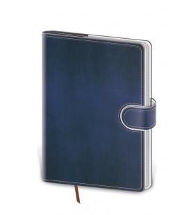 Notepad - Zápisník Flip B6 lined blue, white 2021