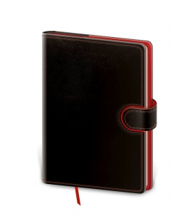 Notepad - Zápisník Flip B6 dotted black, red 2021