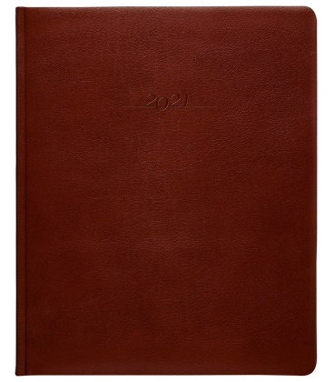 Leather diary Prezident weekly A4 Carus brown 2021