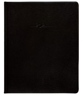 Leather diary Prezident weekly A4 Carus black 2021