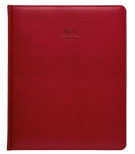 Diary President weekly A4 Gemma red 2021