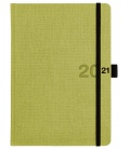 Daily Diary A5 Canvas green, black 2021