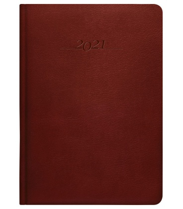 Leather diary A5 weekly Carus brown 2021