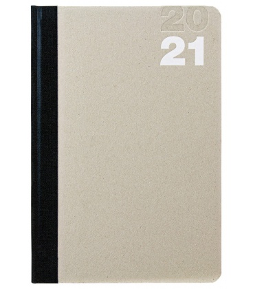 Weekly Diary A5 Natura black, beige 2021