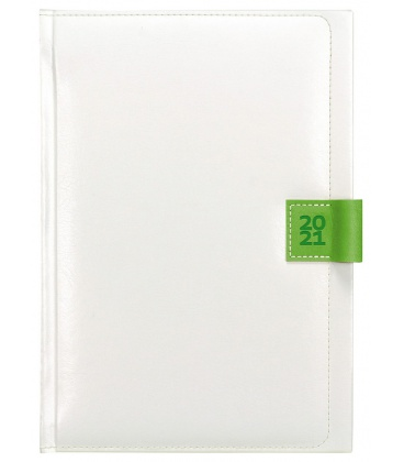 Weekly Diary A5 Nody white, green 2021