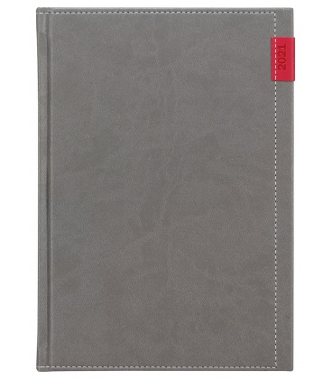 Weekly Diary A5 Joy grey, red 2021