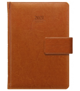 Weekly Diary A5 Kastor s poutkem brown 2021