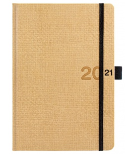 Weekly Diary A5 poznámkový Canvas beige, black 2021