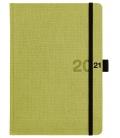 Weekly Diary A5 poznámkový Canvas green, black 2021
