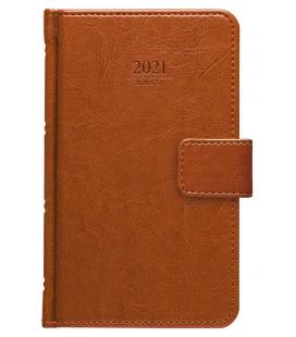 Weekly Pocket Diary Kastor s poutkem brown 2021