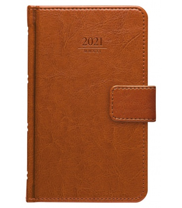 Weekly Pocket Diary Kastor s poutkem brown 2021