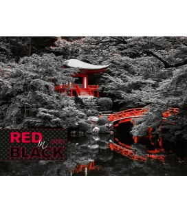 Wall calendar Red in Black 2021