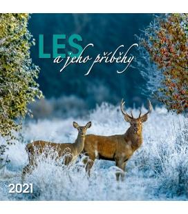 Wall calendar Les a jeho příběhy 2021
