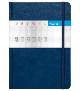 Notepad A5 Saturn squared blue 2021