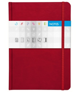 Notepad A5 Saturn squared red 2021