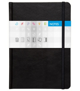 Notepad A5 Saturn squared black 2021