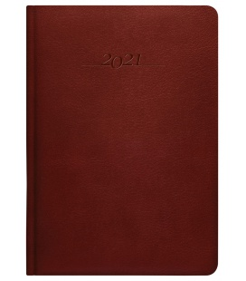 Leather diary A5 daily slovak Carus brown 2021