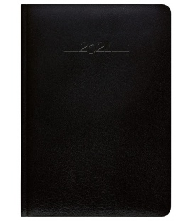 Leather diary A5 daily slovak Carus black 2021