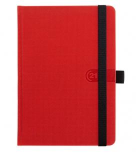 Daily Diary A5 slovak Trendy red, black 2021