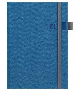 Daily Diary A5 slovak Tweed blue, grey 2021