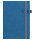 Daily Diary A5 slovak Tweed blue, grey 2021