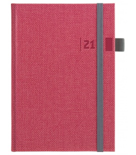 Daily Diary A5 slovak Tweed red, grey 2021