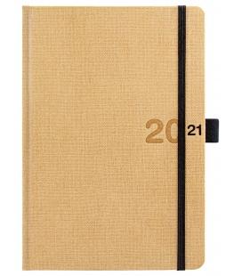 Daily Diary A5 slovak Canvas beige, black 2021