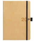 Daily Diary A5 slovak Canvas beige, black 2021