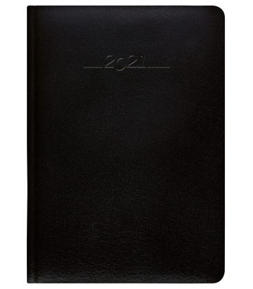 Leather diary A5 weekly slovak Carus black 2021