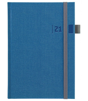 Weekly Diary A5 slovak Tweed blue, grey 2021